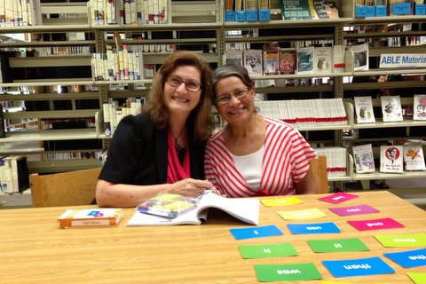 AACLC Tutor Liz McKibbin and Linda