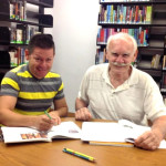 Student Juan Gutierrez and Tutor Harry DeLong