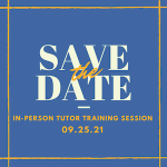 Thumbnail image for Fall Tutor Training Session (now full)