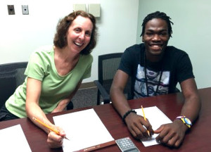 Math Tutor Denise Ayer and Dewayne Williams