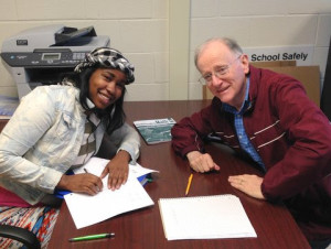 Lajuan Young and Math Tutor Dave Houston