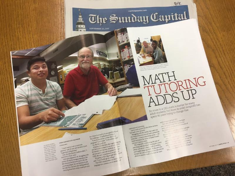 Post image for AACLC Math Tutoring Article in the Capital Gazette