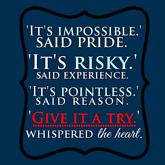 Post image for It's Not Impossible: Inspirational Quote