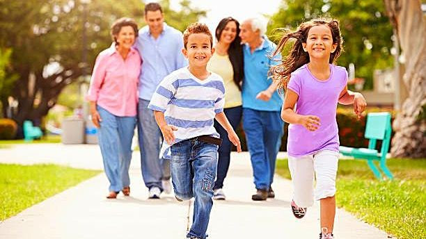 Family running and walking for Walk-A-Thon
