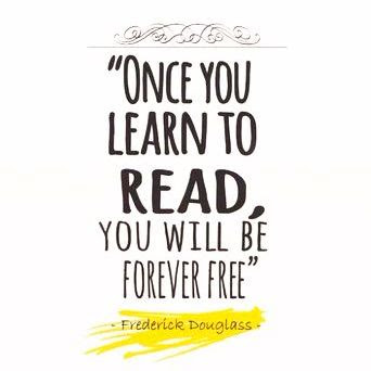 Frederick Douglass quote about reading