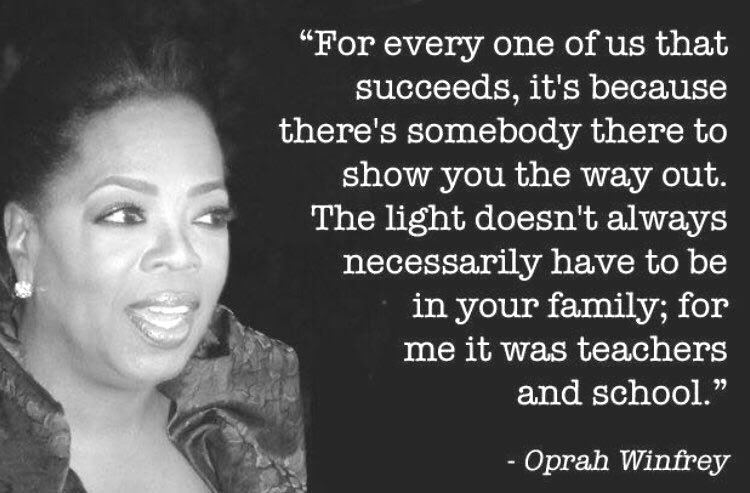 Oprah Winfrey inspirational quote for AACLC