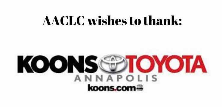 Post image for Thank you, Koons Toyota Annapolis!