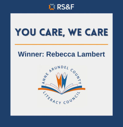 Post image for Thank you, Rebecca and RS&F