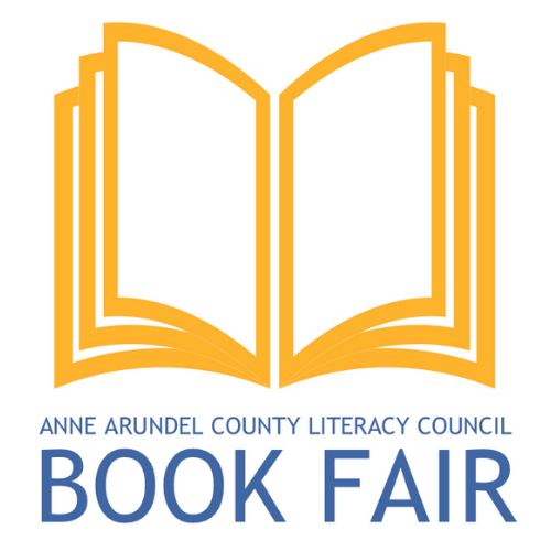 logo image: an open book and text—ANNE ARUNDEL COUNTY LITERACY COUNCIL Book Fair