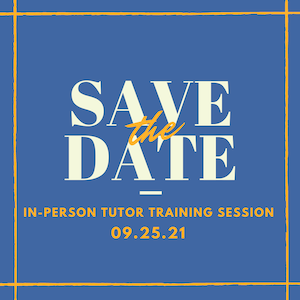 Post image for Fall Tutor Training Session (now full)